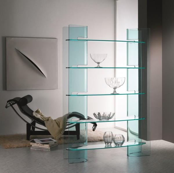 Design Glasregal / Raumteiler SLALOM