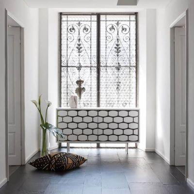 kleines Design Sideboard HONEY mit Spiegelfront