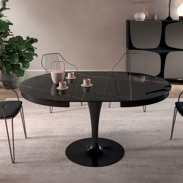 Esstisch ECLIPSE Marbleglas ausziehbar
