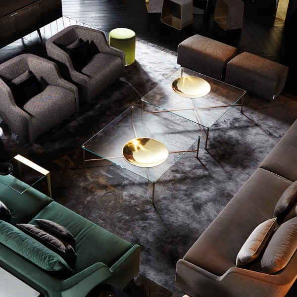 Design Couchtisch GOLDEN MOON