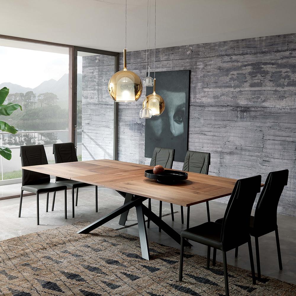 design esstisch 4x4 von ozzio italia die wohn galerie. Black Bedroom Furniture Sets. Home Design Ideas