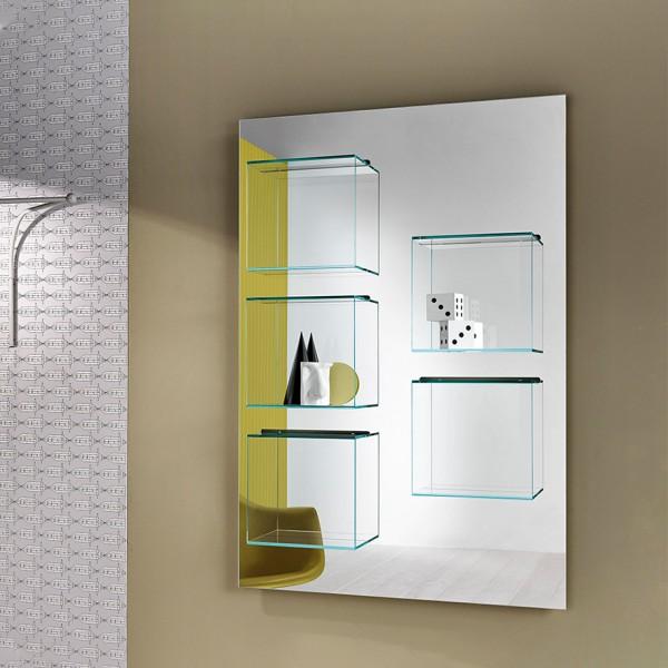 Design Wandregal DAZIBAO mit Spiegel