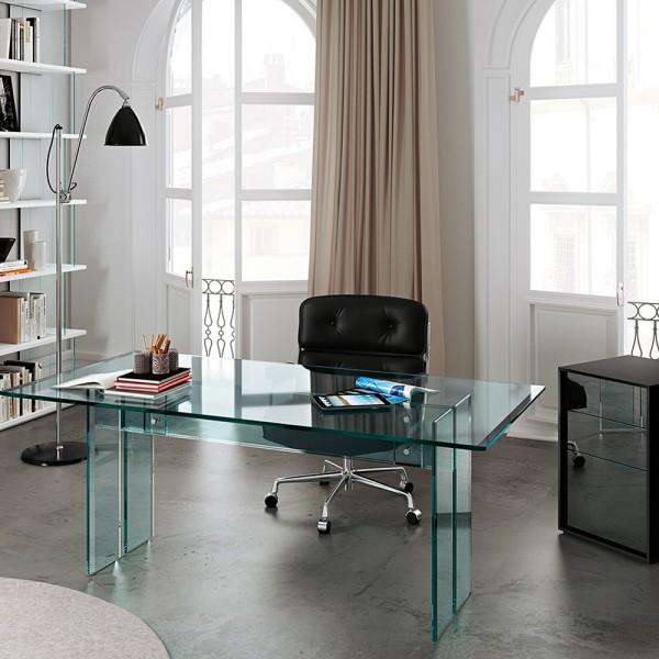 Glas Schreibtisch LLT- home office