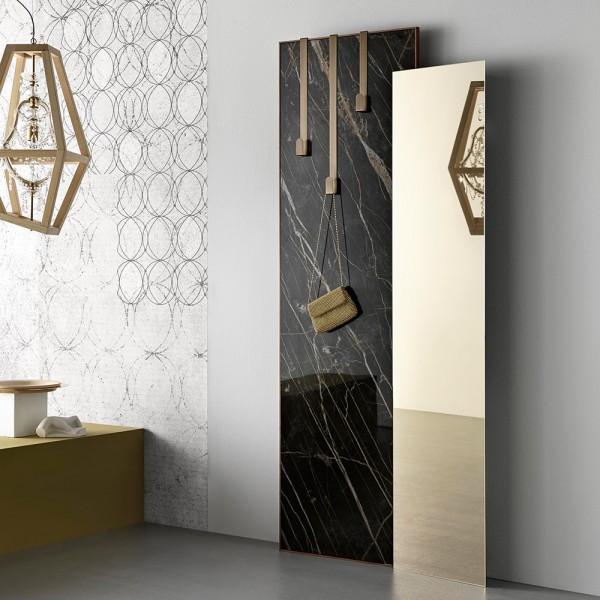 Bronzespiegel und Platte aus Noir Desir