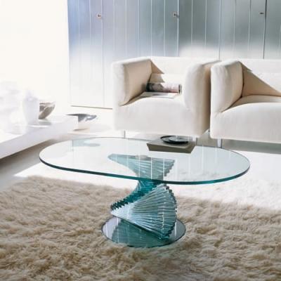 Ovaler design glastisch ariel 6832 von tonin casa die - Ovaler glastisch ...