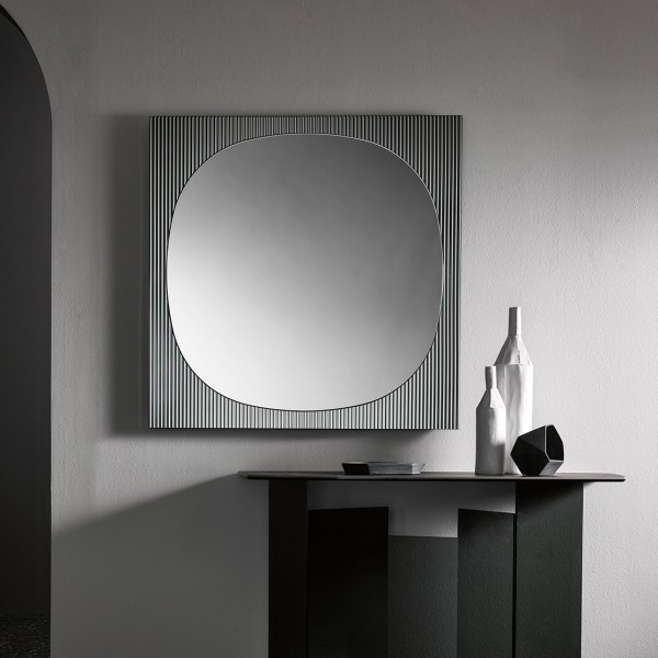 quadratischer Design Spiegel BANDS