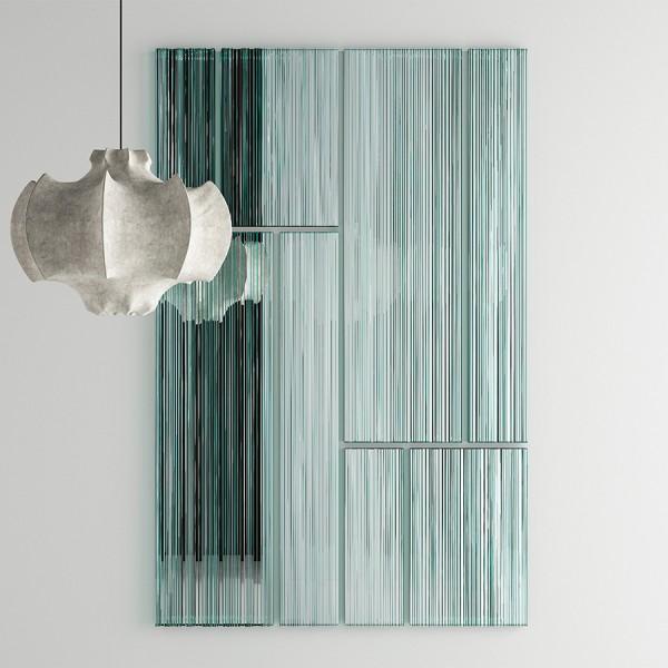 Design Objekt -Wandspiegel VU