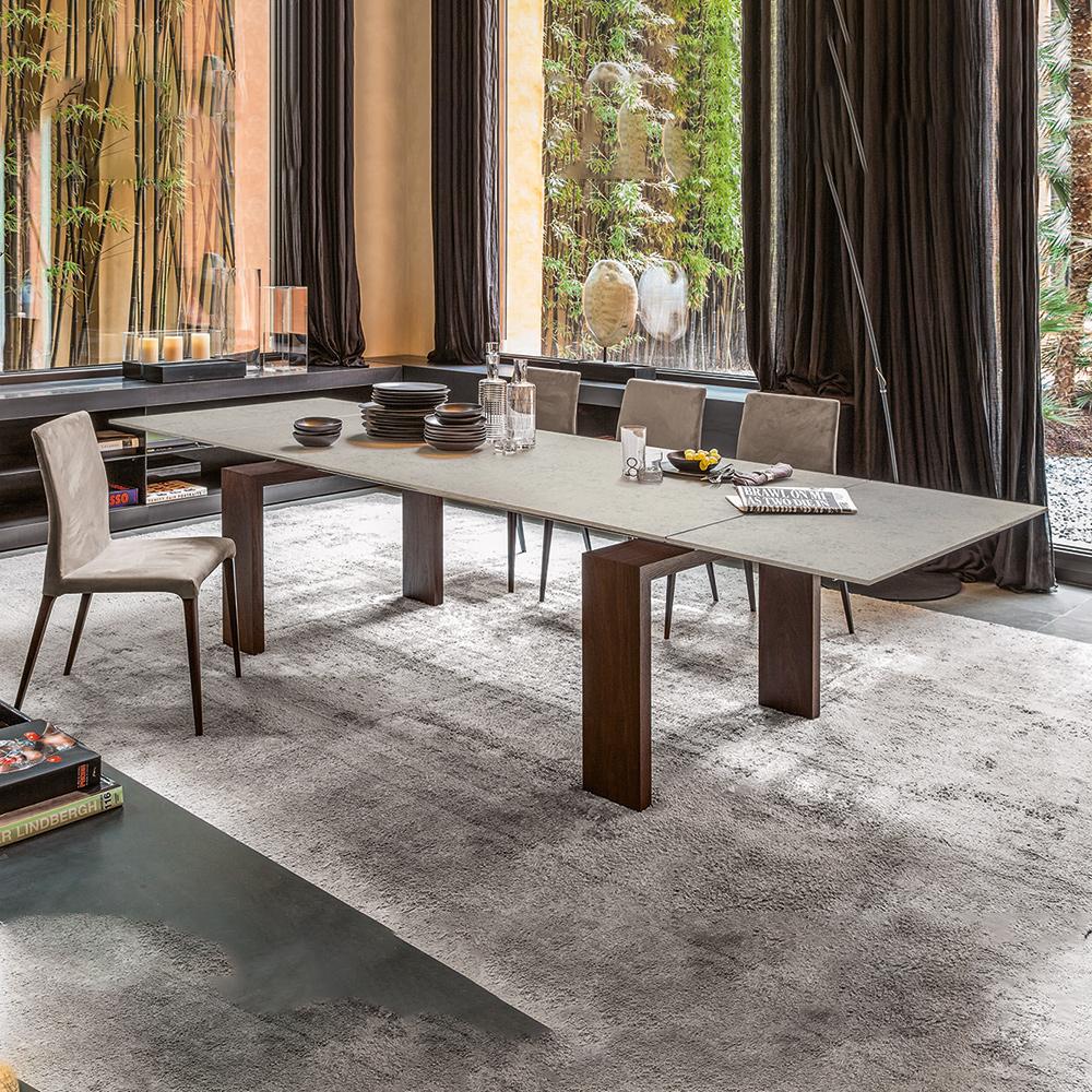 Keramiktisch brooklyn ausziehbar von tonin casa die wohn for Italienische esstische ausziehbar