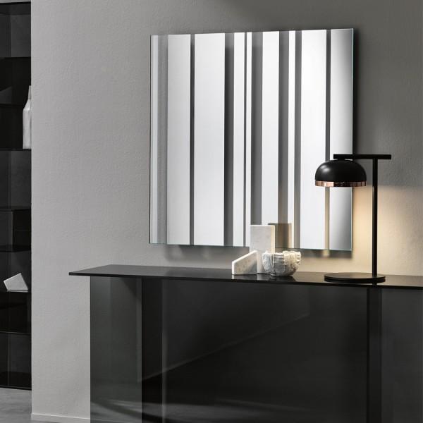 quadratischer Design Spiegel BARCODE