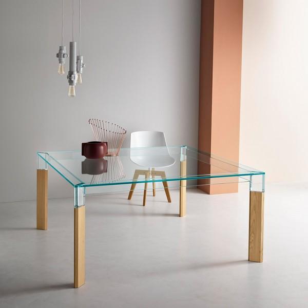Design Glas Esstisch PERSEO