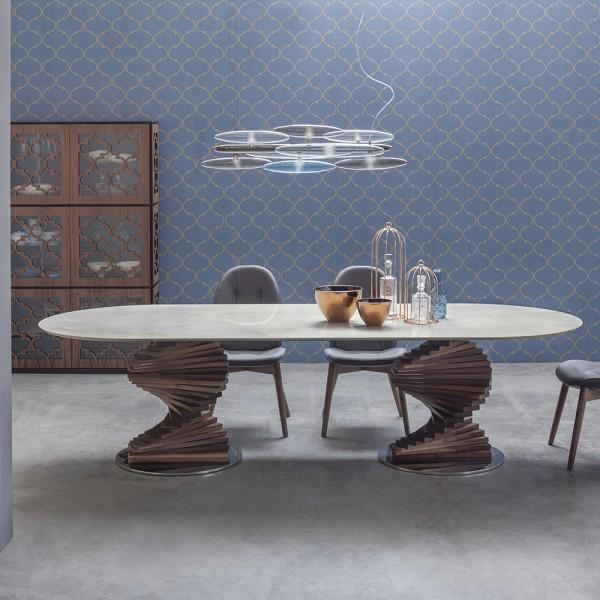 Keramiktisch BIG FIRENZE oval von Tonin Casa