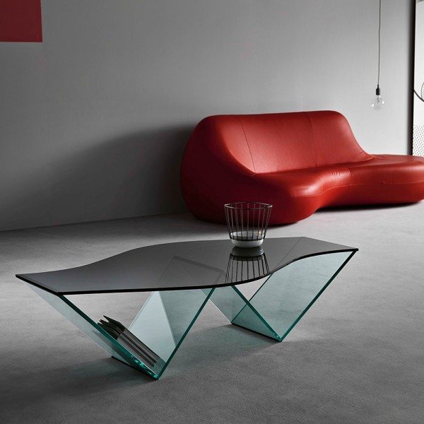Glas Couchtisch PULSE von Karim Rashid; Tonelliesign