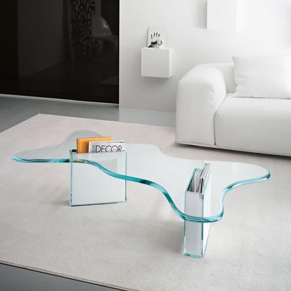 Design Couchtisch SPLASH aus Glas
