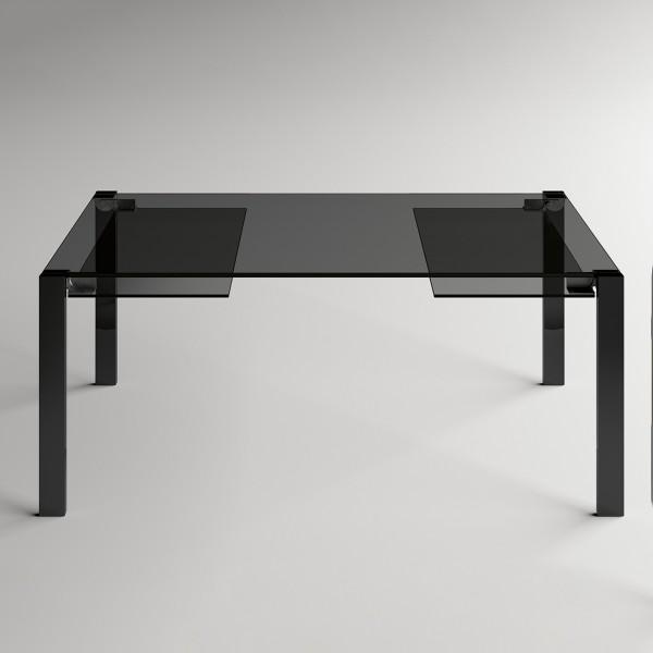 Esstisch LIVINGSTONE-dark ausziehbar