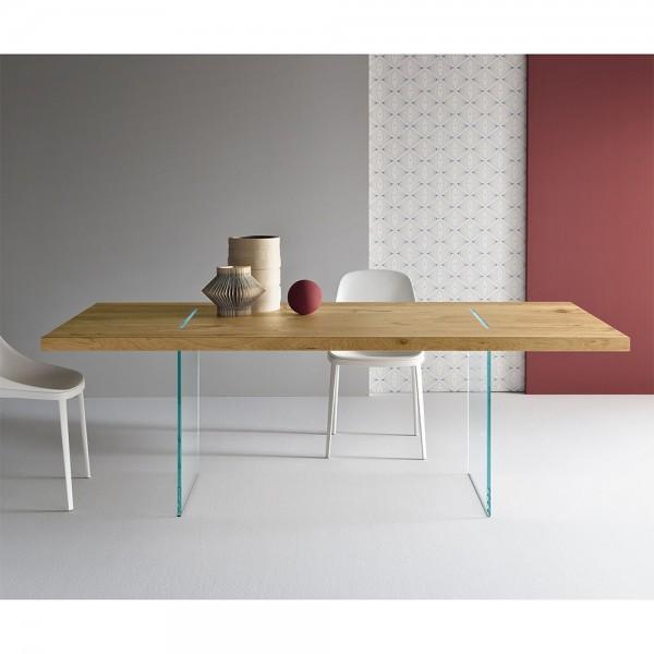 Design-Holztisch TAVOLANTE aged Oak