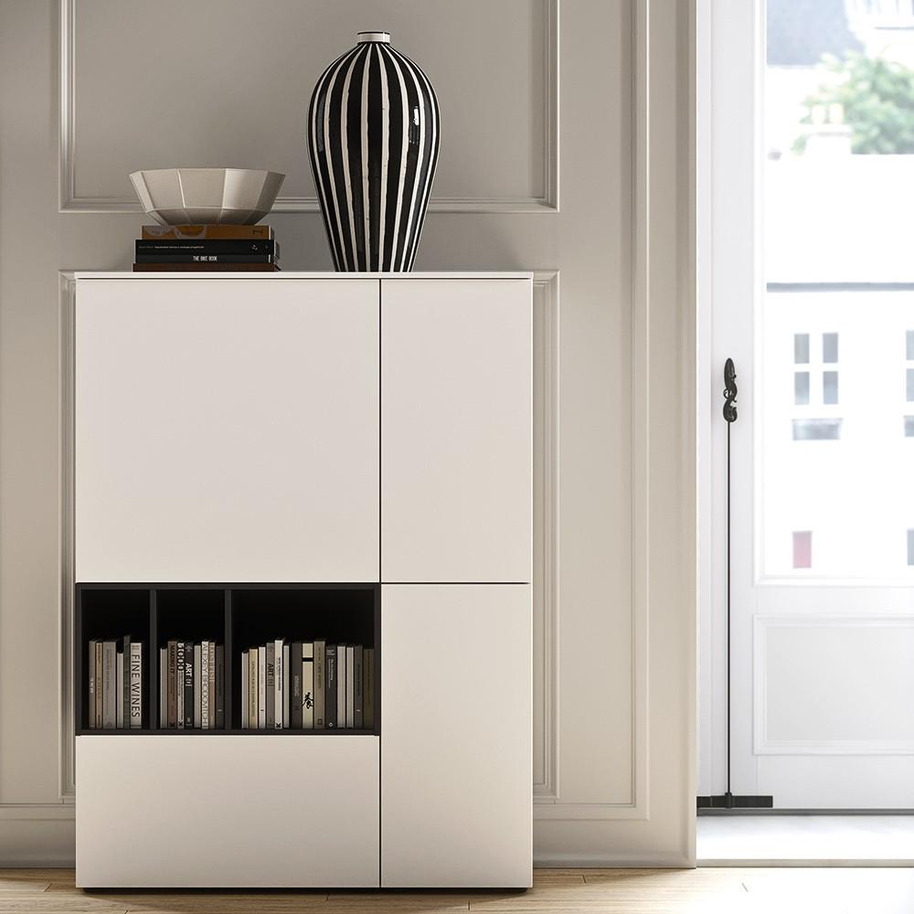 Design Highboard Concilio in Lack weiss von md house | Die-Wohn-Galerie