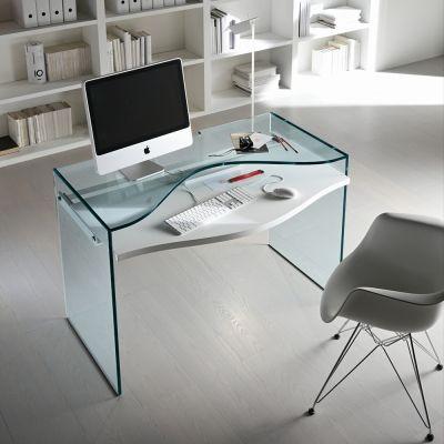 Design Glas Schreibtisch STRATA -Tonellidesign