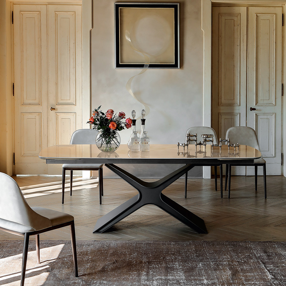 ausziehbarer design keramiktisch calliope von tonin casa die wohn galerie. Black Bedroom Furniture Sets. Home Design Ideas
