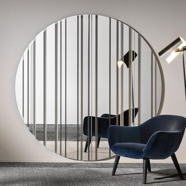 runder Design Spiegel BARCODE