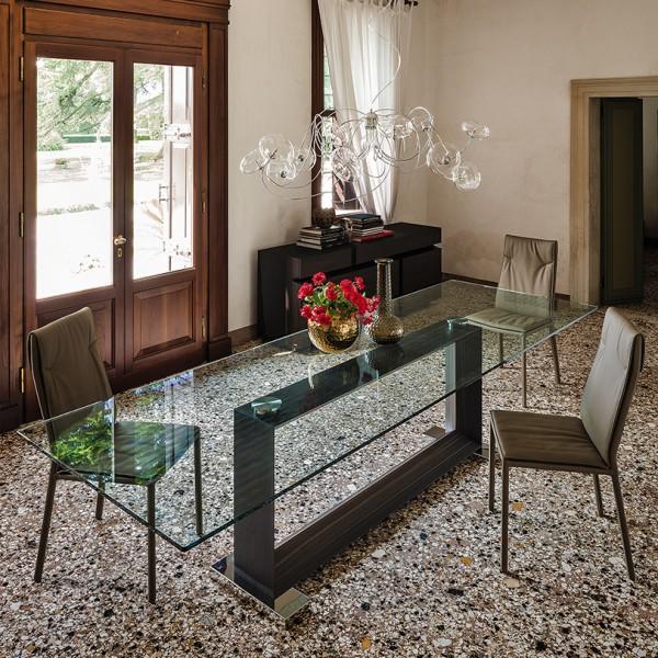 Glas Esstisch MONACO von CATTELAN