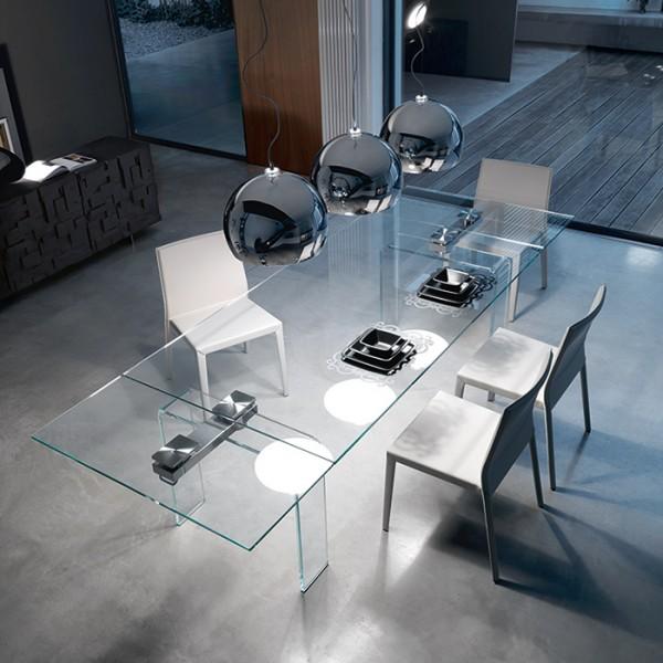 Glas Esstisch AZIMUT von CATTELAN