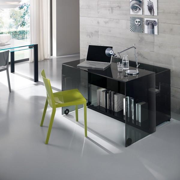 Design Glas Schreibtisch SERVER - Tonellidesign