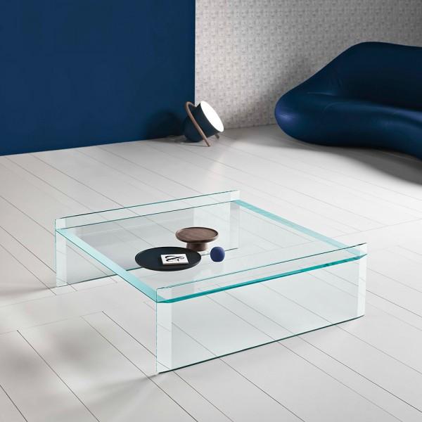 Design Glas Couchtisch QUILLER