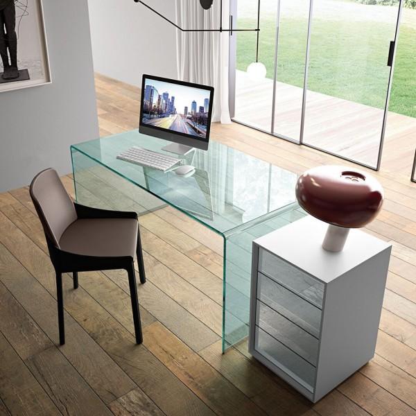 Glas Schreibtisch RIALTO