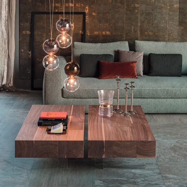Design Holz Couchtisch LINGOTTO von CATTELAN