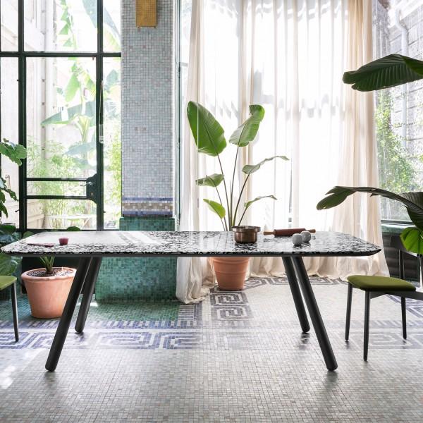 rechteckiger Designtisch PIXIE mit Keramikplatte