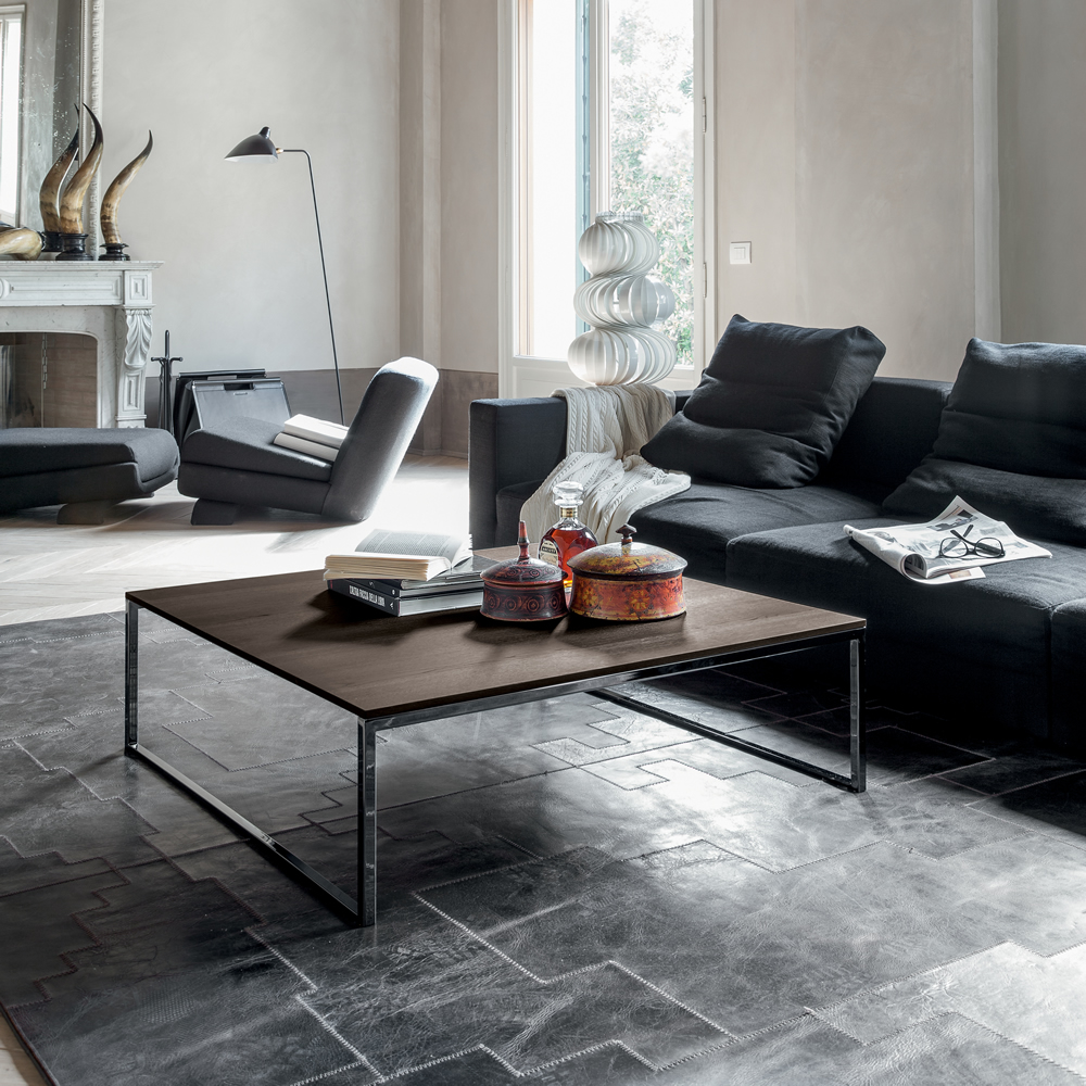 der quadratische couchtisch central von tonin casa ist ein klassiker f r ihr wohnambiente die. Black Bedroom Furniture Sets. Home Design Ideas