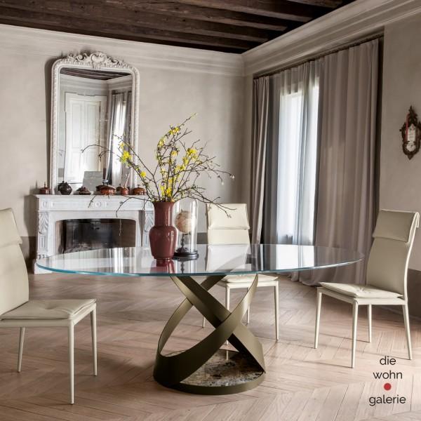 Glasesstisch CAPRI oval von Tonin Casa